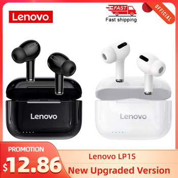 Lenovo LP1S TWS Wireless Earphone Bluetooth Upgraded version 5.0 Dual Stereo Touch Control 300mAH New سماعة fone de ouvido 1