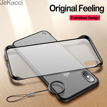 Frameless Phone Case For iPhone 11 Pro Max XR 7 6 6s 8 Plus Transparent Matte Hard PC Case for iPhone XS Max X Finger Ring Cover цена и фото