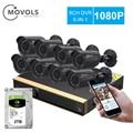 Movols 8CH CCTV камера 8 шт 1080p камера видеонаблюдения DVR комплект Водонепроницаемая наружная домашняя система видеонаблюдения