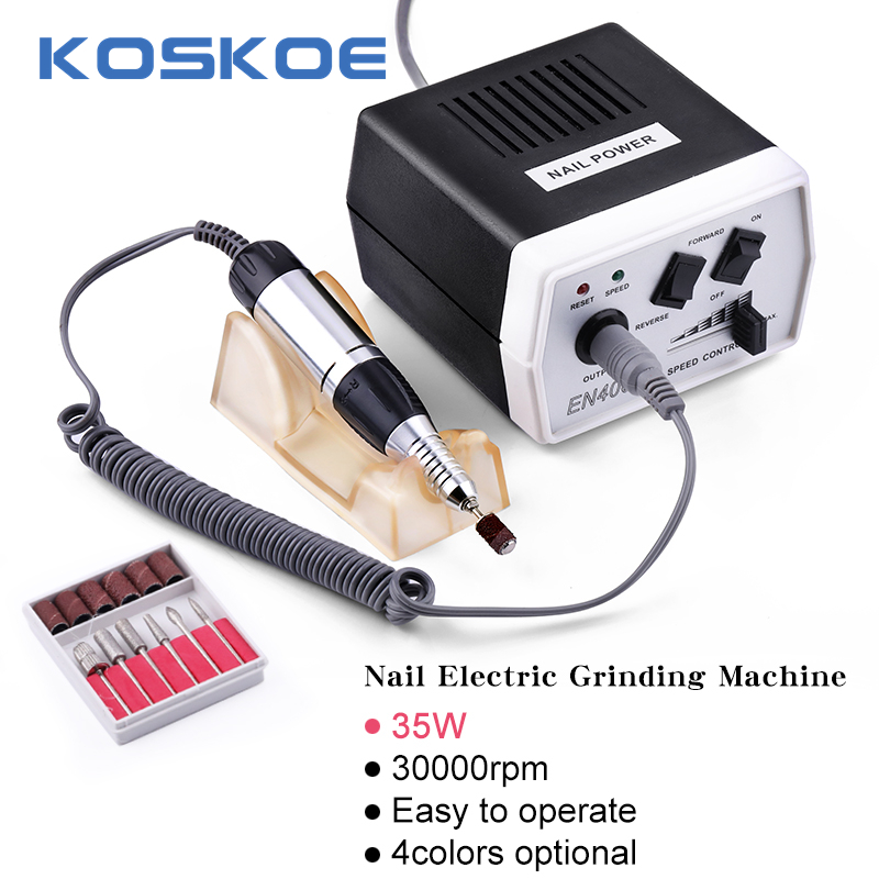 KOSKOE Salon Electric Nail Drill Machine Equipment Set 30000RPM Nails File Grinding Pedicure Nail Art Tools Acrylic Gel