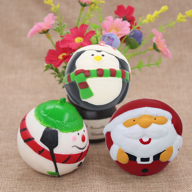 Squeeze Toys Squishy PU Santa Claus Slowly Rebounds Stress Relief Toy Squeeze Toys For Baby Kids Christmas Lovely Gift