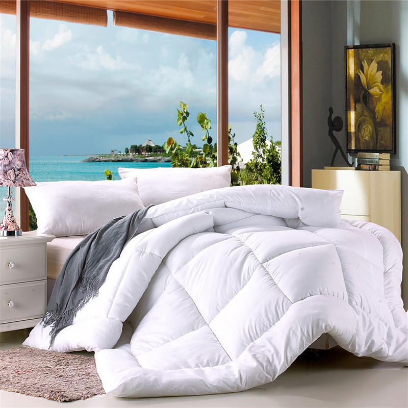 Smart Autumn Winter Thicken Warm Quilt Blanket Double King Queen Bed Cover Bedding Soft Quilted Printed Comforter Home Hotel Duvets Drip-Dry
