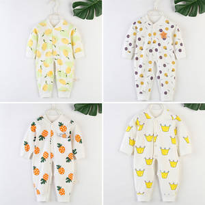 Unisex Rompers Long-Sleeve Baby Outfits Jumpsuit Floral-Print Baby-Boy-Girl Children