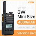 Мини Модные KSUN KS-XK Бангладеш Профессиональный 6 Вт 4000 мА/ч, иди и болтай Walkie Talkie 50 км двухстороннее радио