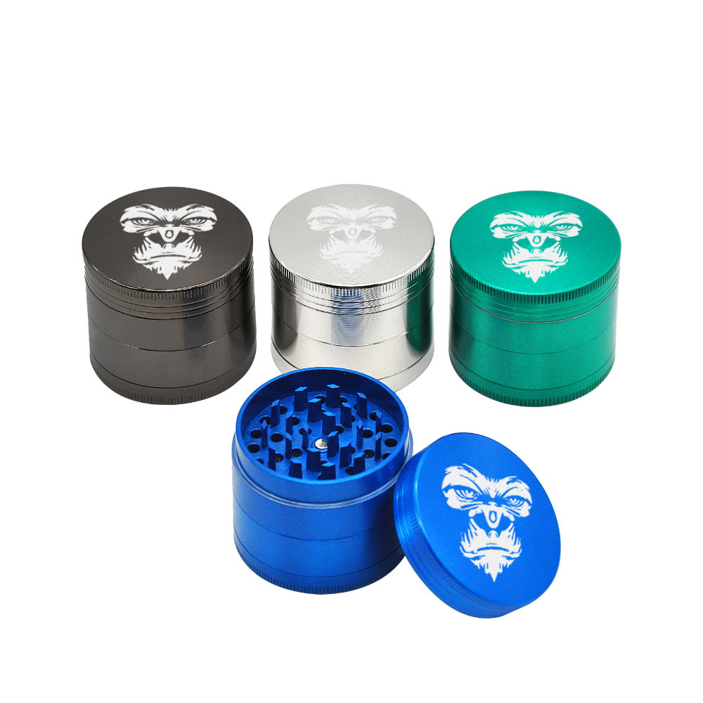 KING KONG Herb Grinder 4 Layers 50 MM Zinc Alloy With Sharp Diamond Teeth Tobacco Metal Herb Crusher Spice Mill Muller