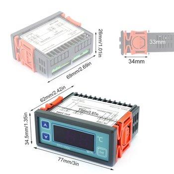 Cyfrowy Regulator temperatury Cool Heat lodówka termostat Regulator termoregulator czujnik przewodów STC-100A tanie i dobre opinie none Digital Temperature Controller with Temperature sensor Gray 12V 110V 220V(optional) -40~99°C 1°C ±1 ℃(-50~70°C)