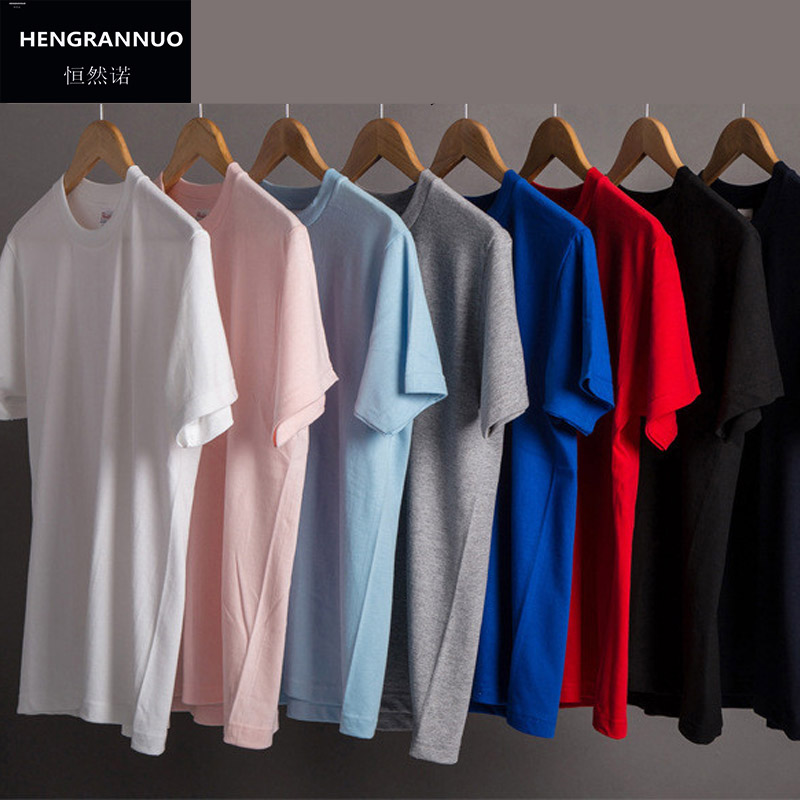 Solid Color T Shirt Wholesale Black White Men Women 100%Cotton T-shirts Brand Short Sleeve T-shirt Running Fashion Tops Tees XXL