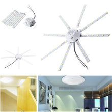 1 Pc AC220V 24W 1800Lm 48 Leds 5730SMD Led Koud Wit Verlichting Thuis Room Plafondlamp Octopus Ronde Licht(China)