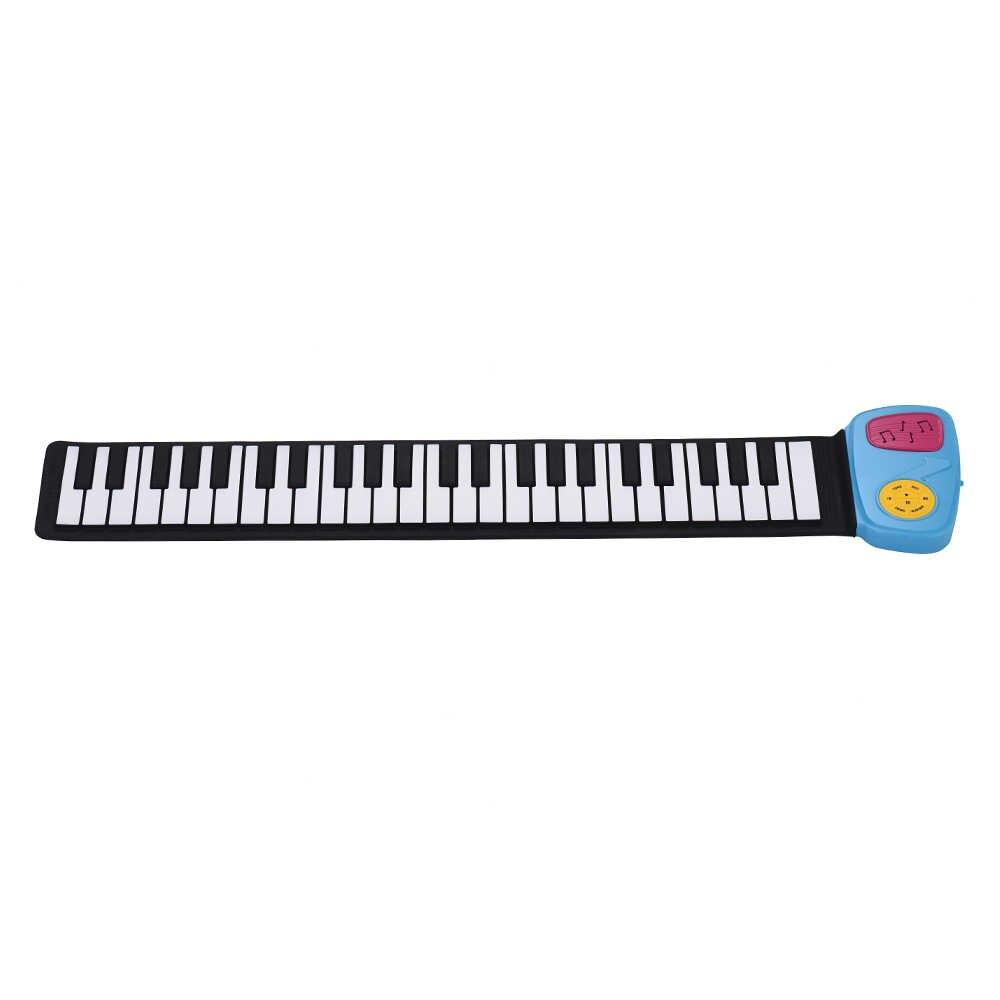 Haut-parleur intégré de Piano enroulable de clavier électronique de silicium de 49 touches portatif avec l'autocollant de bande dessinée pour des enfants d'enfants