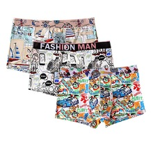 3pcs Set Mens Boxer Cotton Underpants Knickers Sexy Shorts Underwear Masculina Clothes