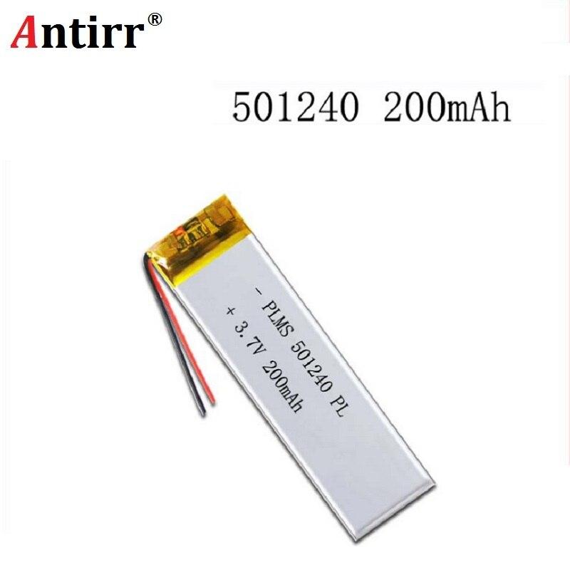 Литий-полимерные аккумуляторы 200 мАч 501240 3,7 В