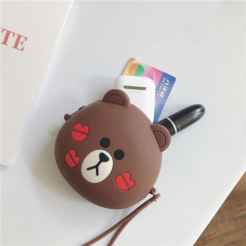 Portable Mini Round Carrying Soft Case Storage Case Bag Box for Earphone Earbuds SD TF Cards Coin Purse Key Holders Card Holder in Earphone Accessories from Consumer Electronics