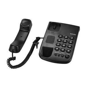 Image 5 - Портативная Проводная телефонная пауза/Повторный набор/вспышка/бесшумный механический замок настенный монтируемый базовый наконечник для дома и офиса