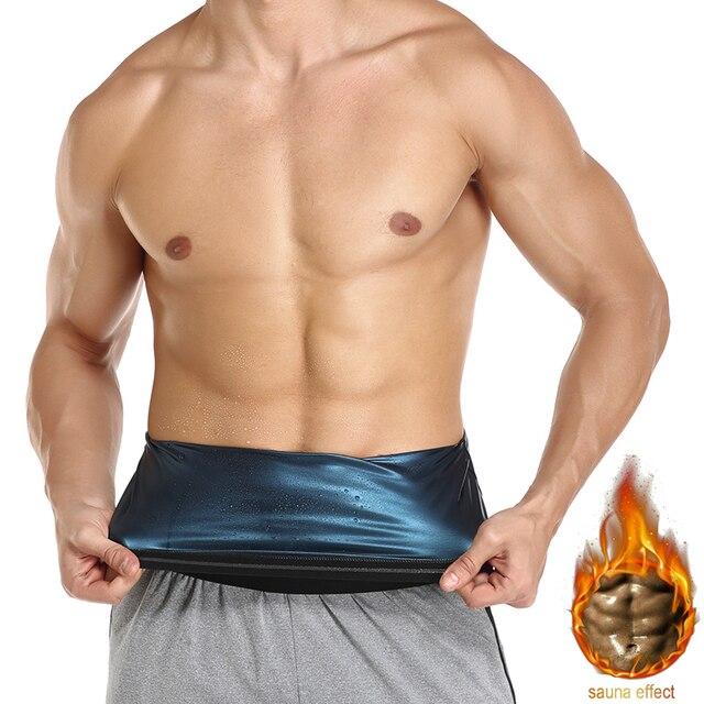 Men Polymer Sauna Sweat Waist Trainer Slimming Body Shaper Waist Trimmer Belt Workout Belly Compression Slim Corset Weight Loss