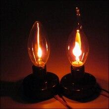 Edison Retro bombilla LED efecto llama fuego luz fiesta Vintage gravedad decoración lámpara creativa fuego luces imitación llama lámpara