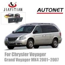 Jiayitian câmera de visão traseira para chrysler, visão noturna, estacionamento de backup, para visão noturna, 2001 ~ 2007 hd ccd câmera reversa,