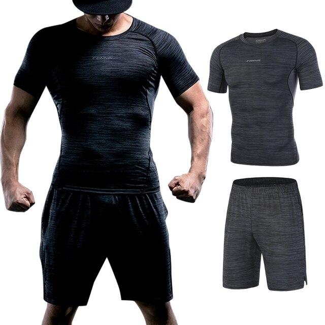 FANNAI combinaison de Sport pour homme, le Running, le Fitness, le Fitness, séchage rapide