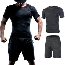 FANNAI חדש דחיסת גברים של ספורט חליפות מהיר יבש ריצת סטי ספורט חובבי ריצת אימון כושר כושר אימוניות ריצה סטים
