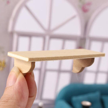 1:12 Doll House półka ścienna miniaturowe akcesoria łazienkowe Mini akcesoria do domku dla lalek drewniane półki ścienne