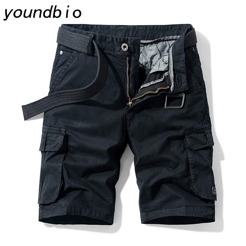 Шорты-карго мужские хлопковые, повседневные джоггеры, брендовая одежда, свободные рабочие штаны, стиль милитари, лето