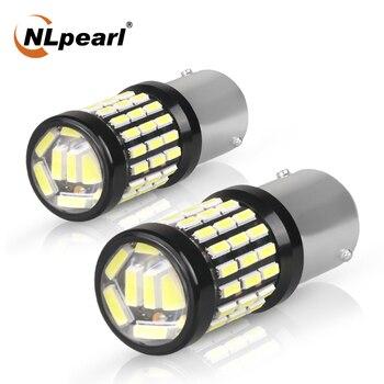 цена на NLpearl 2x Signal Lamp 1157 Bay15d Led Bulb 12V 4014SMD P21w LED 1156 Ba15s Bau15s Auto Reverse Brake Light  Turn Signal Light