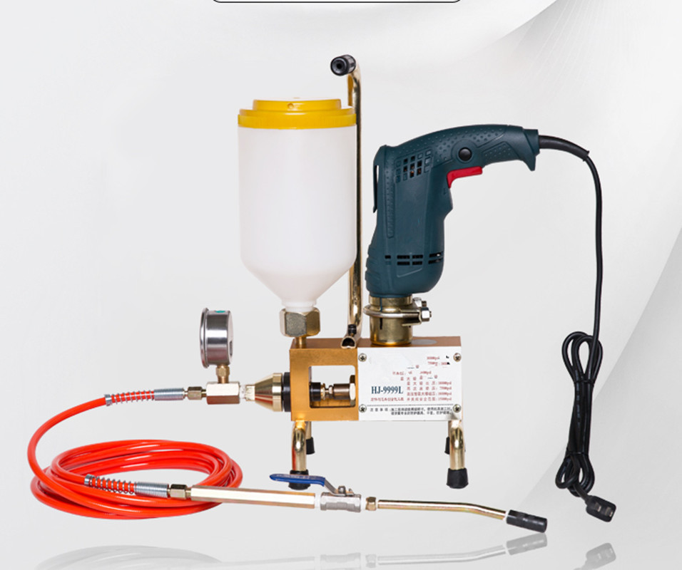 Epoxy Injection Pump Epoxy / Polyurethane Foam Grouting Machine Steel Hose Concrete Repair Crack 999 High Quality 810/910/1300W