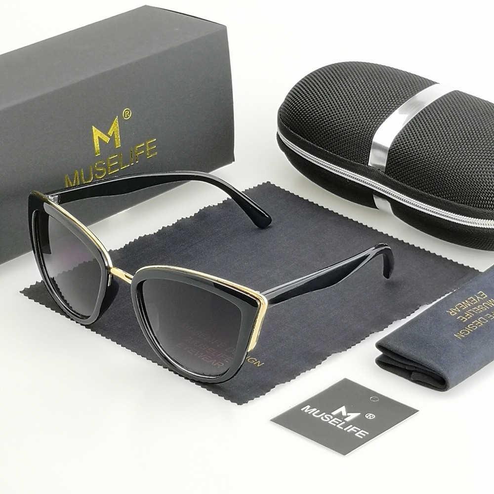 MUSELIFE CATEYE แว่นตากันแดดผู้หญิง VINTAGE Gradient แว่นตา Retro Cat ตาแว่นตา Sun แว่นตาหญิง UV400