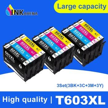 INKARENA 603 XL 5PK Compatible Epson 603XL E603 T603 for XP-2100 XP-3100 WF-2810 XP-3105 XP-4100 XP-4105 WF-2830 XP-2105 Printer