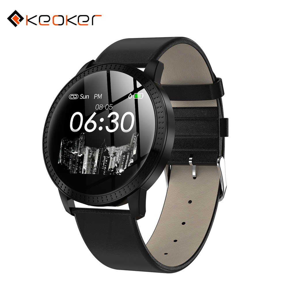 Keoker 2019 Smart Watch Men Heart Rate Monitor Women Sports Tracker Message Call Remind CF18 Smartwath for IOS Android