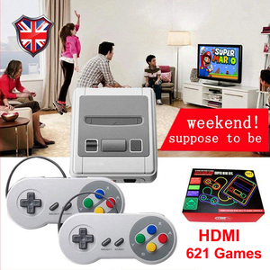 Super SNES Mini HD Family TV 8 Bit Video Game Console HDMI Output TV Handheld Game Player Built-in 621 Retro Classic Games