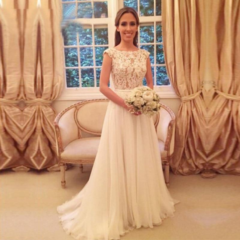 Wedding Dress 2020 O Neck Wedding Gown Tulle Sleeveless Vestido De Noiva White Ivory Backless Bride Dresses Custom Made