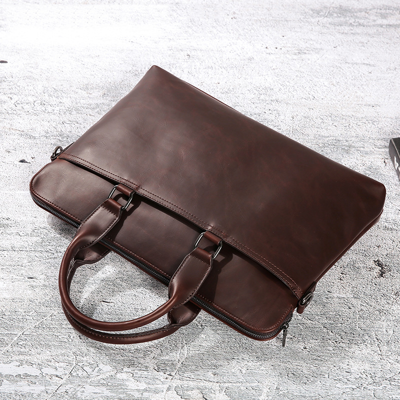Business Men's Briefcases Men's Computer Bag Leather Messenger Bags Laptop Bag Leather Briefcase Office Bags For Men 2019