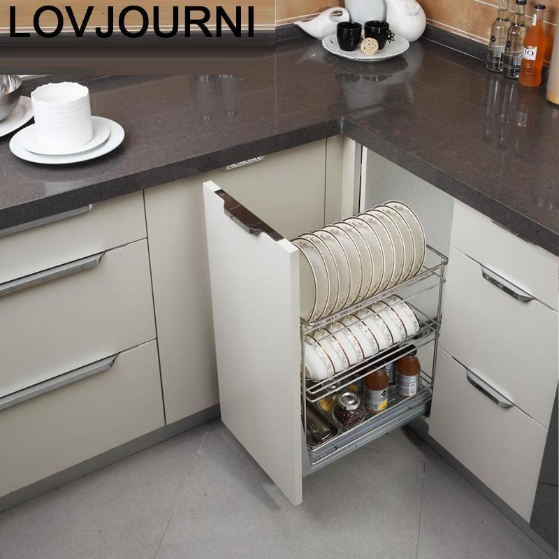 Garde-manger accessoires organisateur Cucina égouttoir plat inox étagère Cuisine armoires de Cuisine Cestas Para organisateur panier