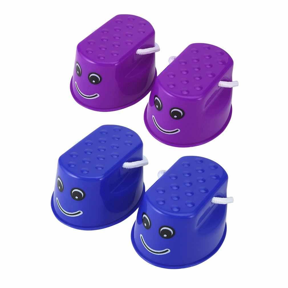 OCDAY 1 คู่กระโดด Stilts รองเท้า Smiley Face Walker Monster Feet Fun & กีฬากลางแจ้งพลาสติก Balance การฝึกอบรมของเล่นสำหรับเด็ก