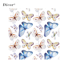 45/90*200CM DICOR Stained Window Film Butterflies Glass Sticker For Home Decor BLT2163KJ