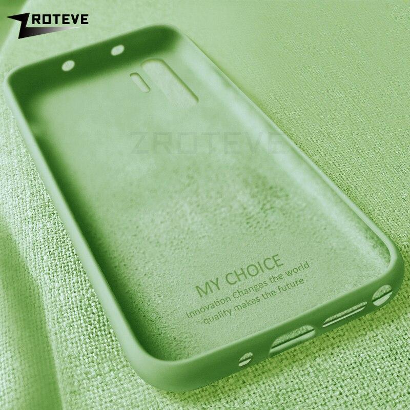 Note10 Case ZROTEVE Liquid Silicone Cover For Samsung Galaxy Note 10 Plus 9 8 Case Cover For Samsung S10 E Lite S8 S9 Plus Cases