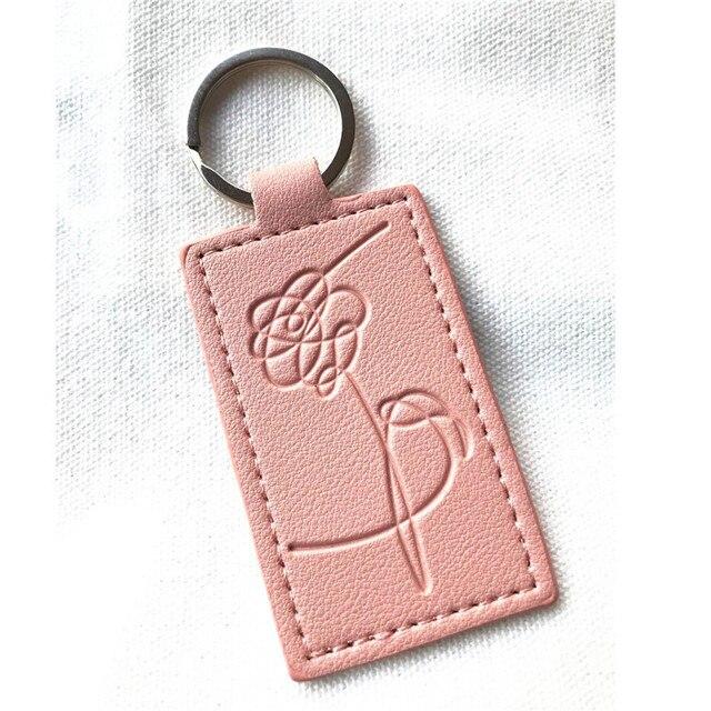 KPOP Keychain Pink Bangtan Boys Lanyard Love Myself Key Chains RAPMONSTER V JUNGKOOK JIMIN JHOPE RM Keyring Accessories 2