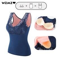 Lace Top Tank-Top Female Vest Underwear Thicken Sexy Winter Women Slim Body-Shaper Beauty-Back