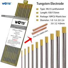 2% Lanthanated tungsten electrodes WL15 WL20  tig tungsten rod 1.0 1.6 2.0 2.4 3.0 3.2 4.0mm gold tig electrodes for tig welding