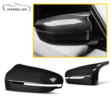 LHD F90 Carbon fiber side view Mirror Caps Replacement for BMW M5 F90  OEM Fitment Side Mirror Cover
