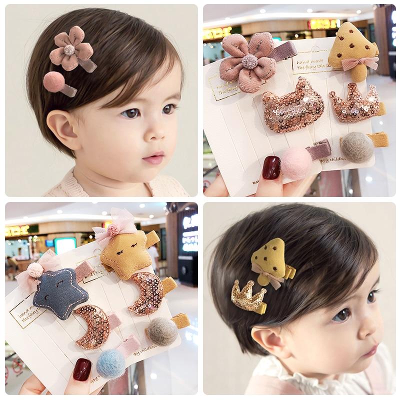 Baby Korean Girl Baby Kids Princess hairpin pearl flower BB Hair Accessories