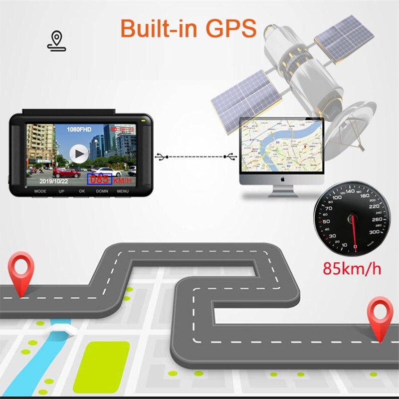 Jiluxing X06S FHD 1080P GPS positionnement voiture DVR vitesse Mini tableau de bord caméra enregistreur vidéo enregistreur automatique vision nocturne enregistrement en boucle - 3