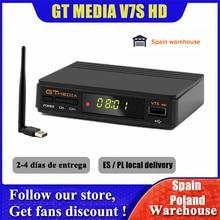 GTMedia V7S كامل HD استقبال الأقمار الصناعية DVB S2 فك التلفزيون + USB واي فاي ترقية بواسطة Freesat V7 مستقبلات التلفزيون Sat صندوق التلفزيون لا يشمل التطبيق