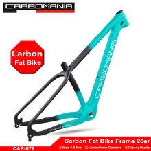 Carbon Fat Wheel Bike Frame 26er Carbon mtb Fatbike Frame 26×4.8 Fat Tires Carbon Mountain Snow Bicycle Frame Road Bike frame(China)