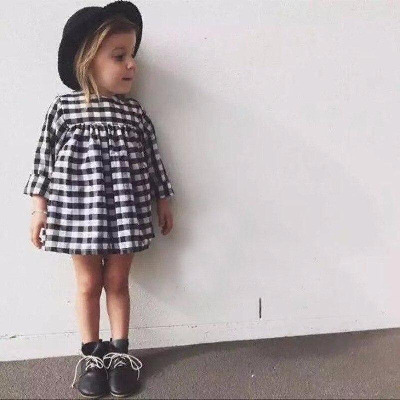 ><font><b>Plaid</b></font> Baby Dress <font><b>2019</b></font> Long Sleeved Autumn Casual 1 Year <font><b>Girl</b></font> Baby Bithday Dress Cotton Toddler Infant Princess Children Clothes