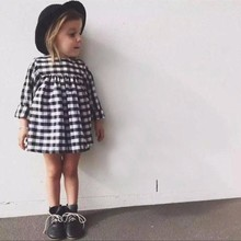 Plaid Baby Dress 2019 Long Sleeved Autumn Casual 1 Year Girl