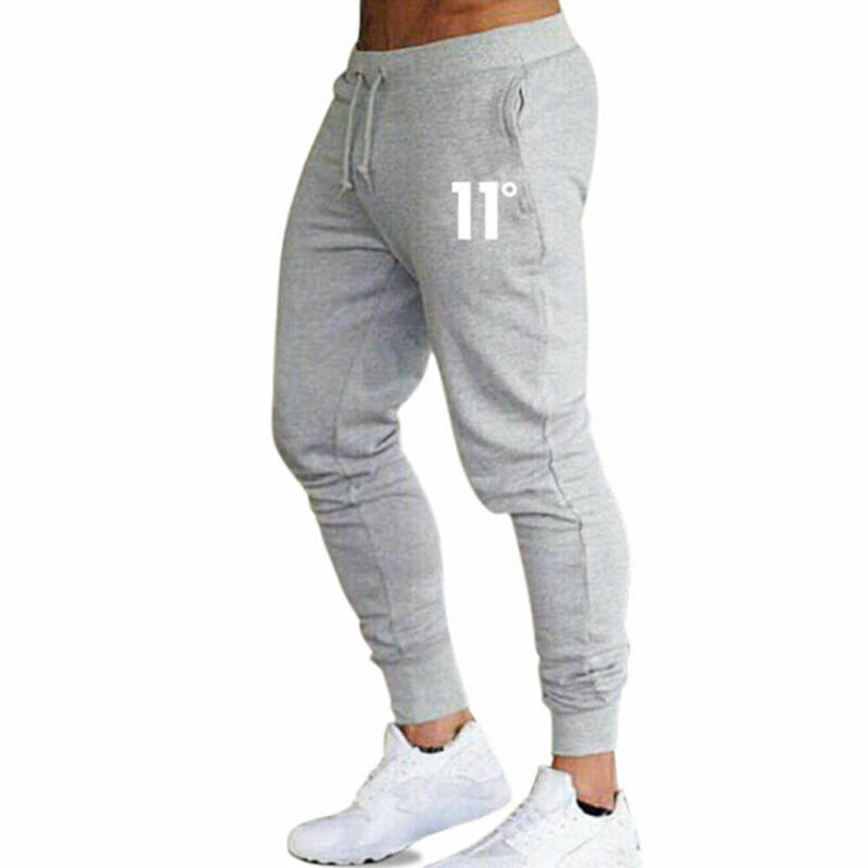 Hot sale solid casual Mens Casual Slim Fit Tracksuit Sports Solid Male Gym Cotton Skinny Joggers Sweat Casual Pants Trousers 5