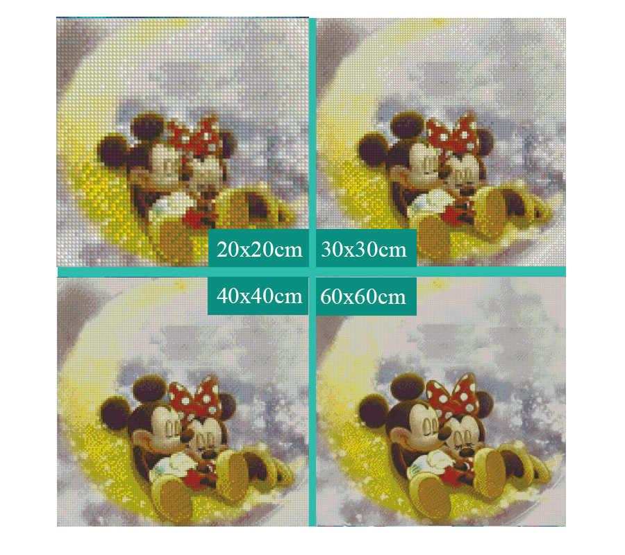 5D ダイヤモンド塗装フルセット月光カップルマウスラウンドラインストーンピクチャ刺繍販売ダイヤモンドモザイク漫画