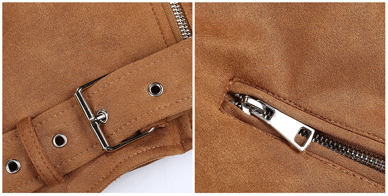 H4f240057f84f45acb1ba39ed73fd6f834 Giolshon 2021 New Winter Women Thick Warm Faux Suede Jacket Coat With Belt Detachable Faux Fur Collar Leather Jackets Outwear