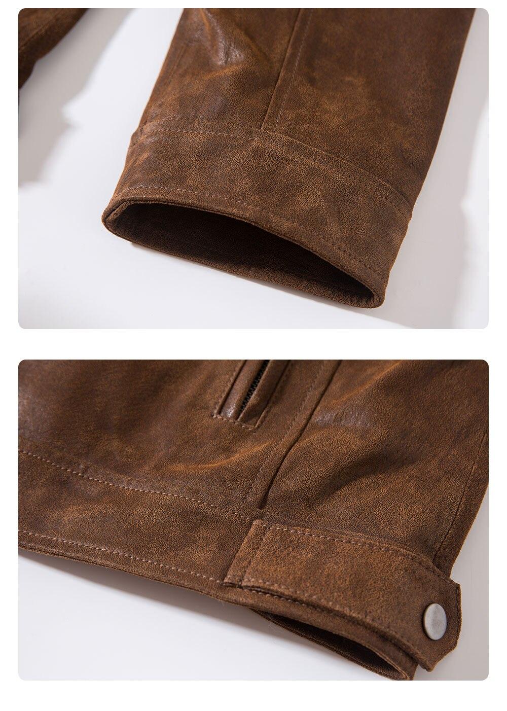 H4f2402d4d7394a749dfad688daf36f96m Men's Pigskin Real Leather Jacket Motorcycle Jacket Coat Men